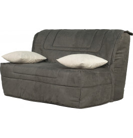 banquette bz microfibre gris matelas 140x190 bultex mousse hr. Black Bedroom Furniture Sets. Home Design Ideas