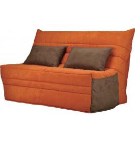 Banquette BZ microfibre orange matelas 140x200 Sofaconfort mousse