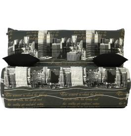 banquette bz tissu new york matelas 140x190 sofaflex mousse. Black Bedroom Furniture Sets. Home Design Ideas