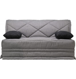 banquette bz tissu chin gris matelas 160x200 bultex 15cm. Black Bedroom Furniture Sets. Home Design Ideas