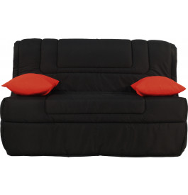 banquette bz tissu noir matelas 140x190 bultex mousse hr. Black Bedroom Furniture Sets. Home Design Ideas