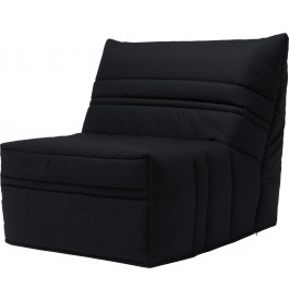 Banquette BZ tissu noir matelas 90x190 Sofaflex mousse