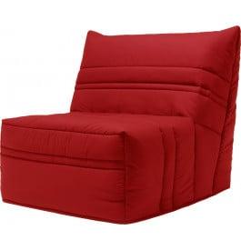 Banquette BZ tissu rouge matelas 90x190 Sofaflex mousse