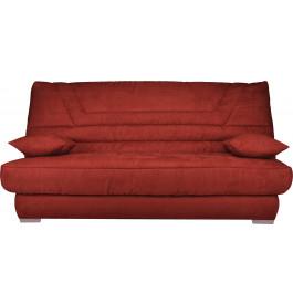 banquette clic clac microfibre rouge matelas 130x190 bultex mousse hr. Black Bedroom Furniture Sets. Home Design Ideas
