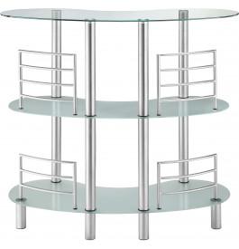 Bar design aluminium plateau verre