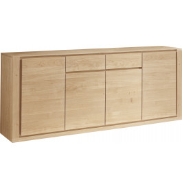 Buffet chêne naturel 4 portes 2 tiroir