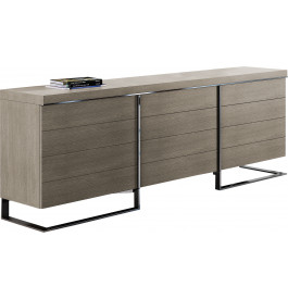 buffet design 3 portes ch ne gris pieds inox. Black Bedroom Furniture Sets. Home Design Ideas