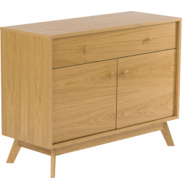 Buffet scandinave chêne naturel 2 portes