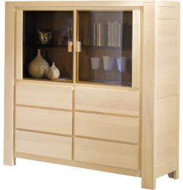 buffet vaisselier ch ne blanchi 4 portes. Black Bedroom Furniture Sets. Home Design Ideas