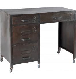 Bureau acier peinture vieillie 4 tiroirs
