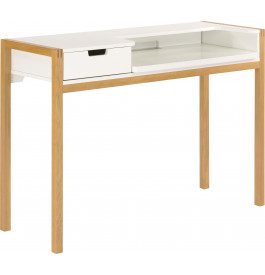 bureau scandinave blanc pieds ch ne naturel. Black Bedroom Furniture Sets. Home Design Ideas