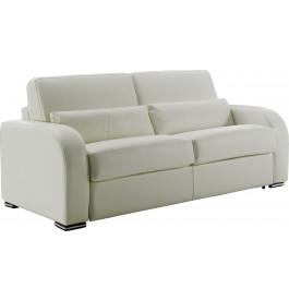 Canapé-lit cuir Rapido 3 places Evan blanc