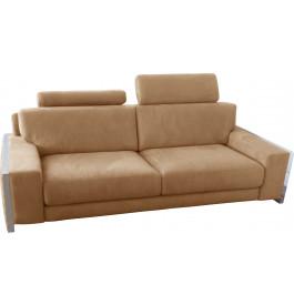 Canapé 2 places microfibre sable 2 tétières