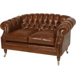 canap club chesterfield sur roulettes cuir capitonn. Black Bedroom Furniture Sets. Home Design Ideas