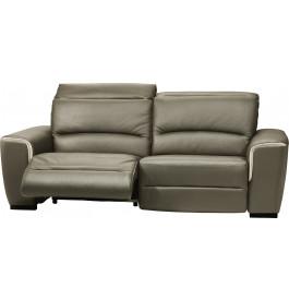 Canapé cuir relax contemporain 2 places Nils gris