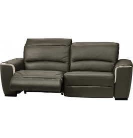 Canapé cuir relax contemporain 2 places Nils gris anthracite