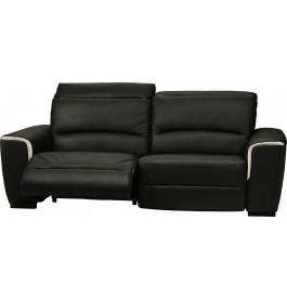 Canapé cuir relax contemporain 3 places Nils noir