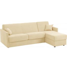 Canapé d'angle rapido convertible CIAK microfibre beige