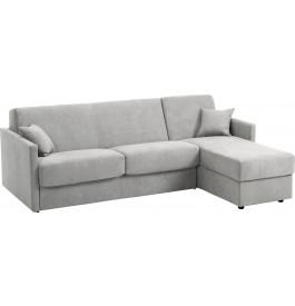 Canapé d'angle rapido convertible CIAK microfibre gris clair
