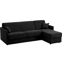 Canapé d'angle rapido convertible CIAK microfibre noir