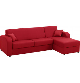 Canapé d'angle rapido convertible GARBO tissu rouge
