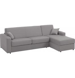 Canapé d'angle rapido convertible SAFIRA tissu gris