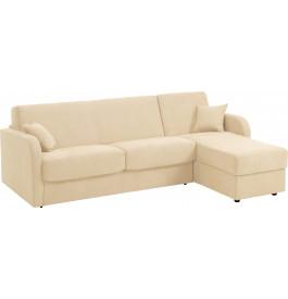 Canapé d'angle rapido convertible STAR microfibre beige