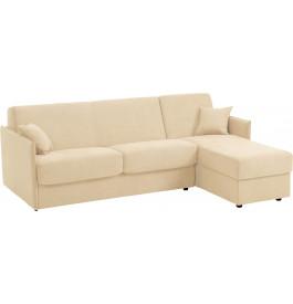 Canapé d'angle rapido convertible VEGA microfibre beige
