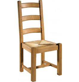 chaise ch ne assise paille 3 barreaux. Black Bedroom Furniture Sets. Home Design Ideas