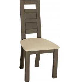 Chaise chêne gris Titane dossier haut