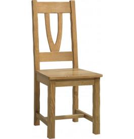 Chaise chêne massif doré antiquaire assise bois