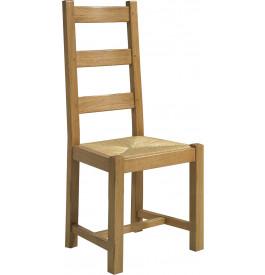 Chaise chêne massif doré antiquaire assise paille