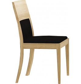 Chaise chêne naturel assise tapissée noir (x2)