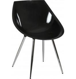 Chaise design coque noire (x2)