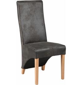 Chaise grise microfibre