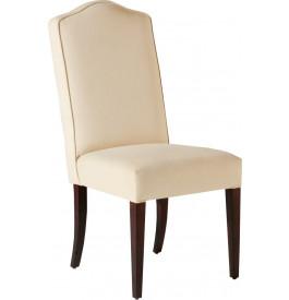 Chaise hêtre massif tapissée blanc cassé pieds droits