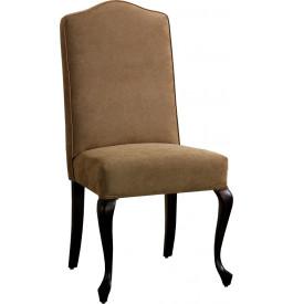 Chaise hêtre massif tapissée pieds chippendale