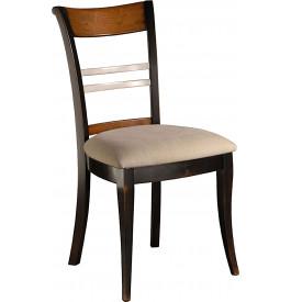 Chaise merisier laqu e assise tissu dossier barreaux for Chaise a barreaux