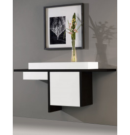 console design murale laqu brillant 1 porte 1 tiroir. Black Bedroom Furniture Sets. Home Design Ideas