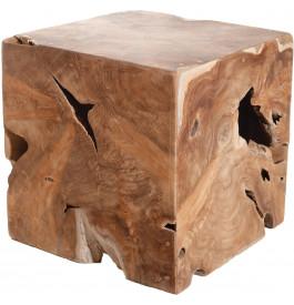 Cube exotique teck massif