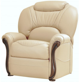 Fauteuil cuir beige cr¨me confort o