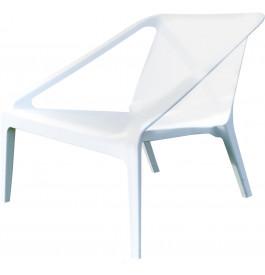 Fauteuil de jardin plastique blanc