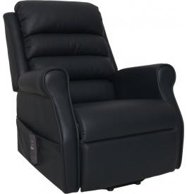 Fauteuil relaxation - releveur tissu noir position lit