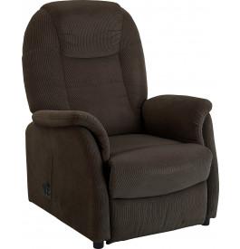 Fauteuil relaxation - releveur tissu velours gris foncé