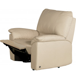 Fauteuil relaxation cuir beige Roma