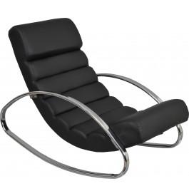 Fauteuil relaxation design à bascule PU noir