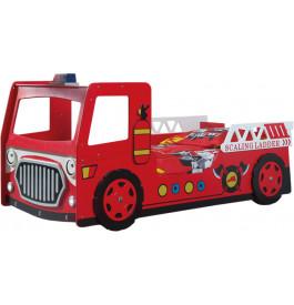 lit enfant camion de pompier 90x200. Black Bedroom Furniture Sets. Home Design Ideas