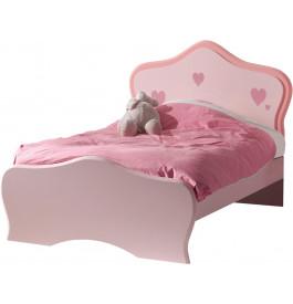 Lit enfant princesse laqué rose 90x200 LIZZY