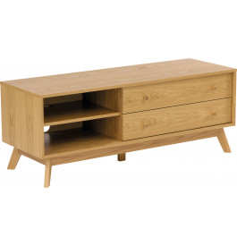 meuble tv scandinave ch ne naturel 2 tiroirs 2 niches. Black Bedroom Furniture Sets. Home Design Ideas