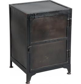 Meuble de rangement acier peinture vieillie 1 portes
